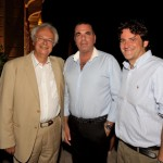The president of the Foundation of the Anargyrios & Korgialenios School of Spetses, Professor Konstantinos Stefanou with the Mayor of Spetses Panayiotis Lyrakos and the CEO of Poseidonion Grand Hotel, Antonis Vordonis. Photo © Poseidonion Grand Hotel