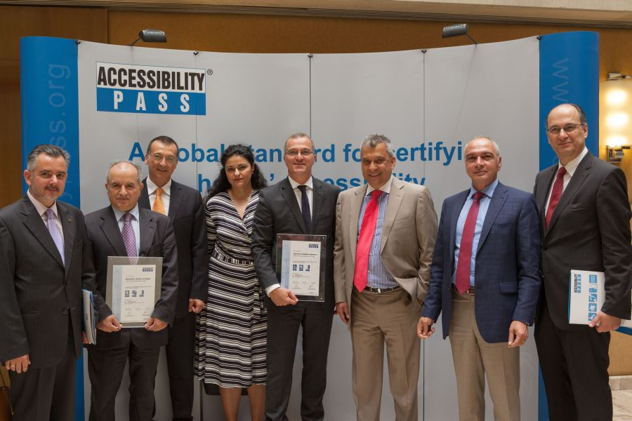 "Representatives of Accor hotels in Greece and the ""Accessibility Pass"" scheme. Photo source: Sofitel Athens Airport"