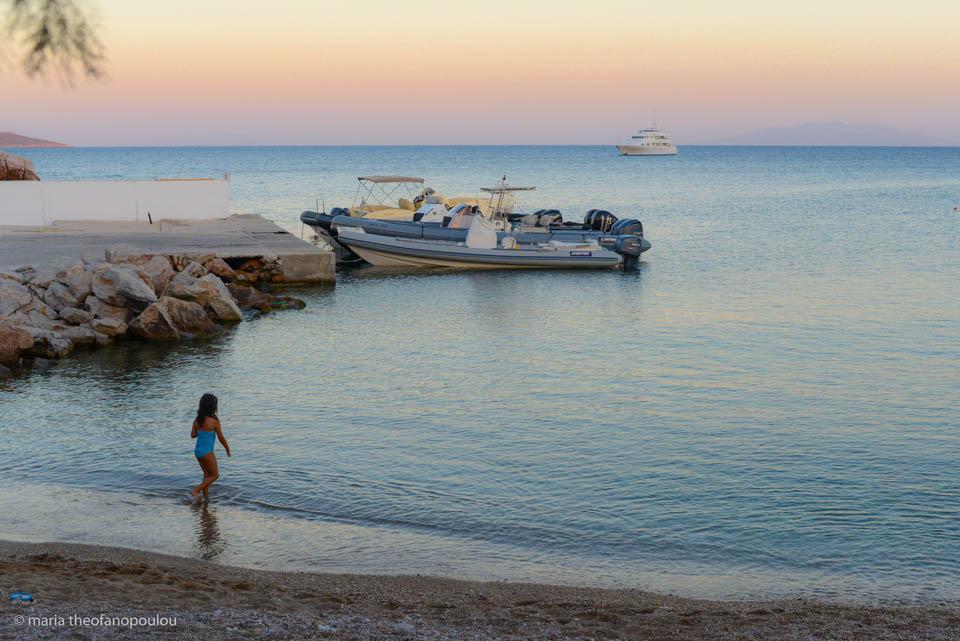Apantima beach during sunset. Photo © Maria Theofanopoulou