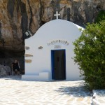 Agios Ioannis at the entrance of the Cave.