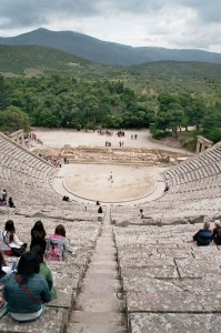 Set against a backdrop of lush landscape, the theatre of Epidaurus is marvelled for its exceptional acoustics Photo: © Wikimedia Commons
