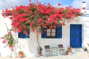 Lefkes, a postcard-perfect village on Paros. Photo © Region of South Aegean