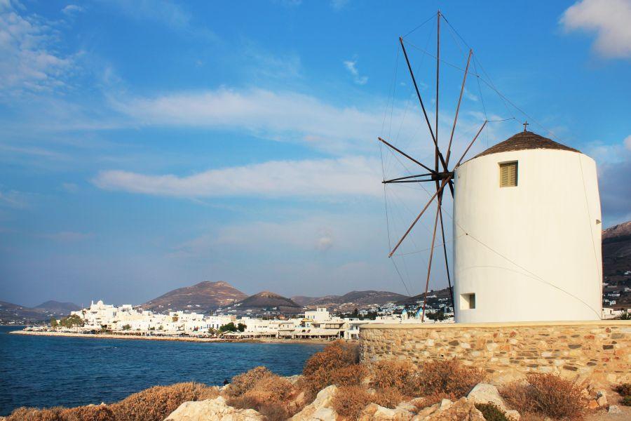 Windmill at Parikia, Paros' main town. Photo © Region of South Aegean