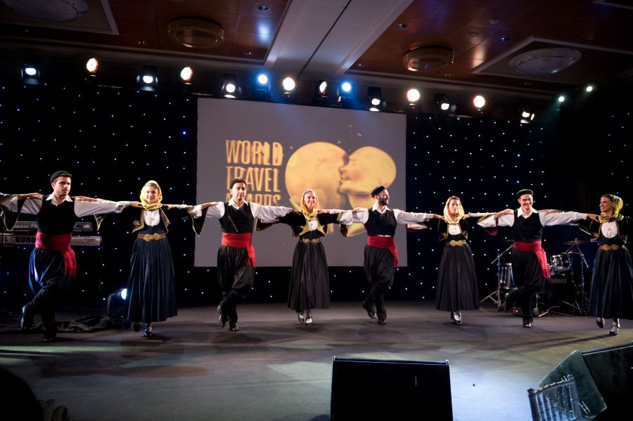 Highlights at the World Travel Awards Europe Gala Ceremony included a performance by the Dora Stratou Greek dancers. Photo © WTA