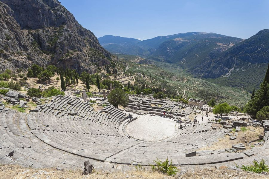 The theatre of Delphi, built in 400 BC. Photo © Anastasios71, Shutterstock