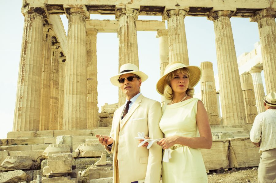 Viggo Mortensen and Kirsten Dunst at the Acropolis in Athens, Greece.