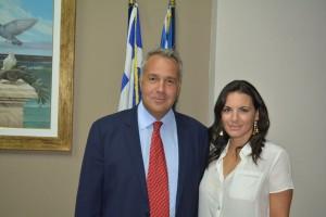 Health Minister Makis Voridis and Tourism Minister Olga Kefalogianni. Photo source: Greek Tourism Ministry