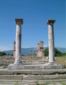 The Agora (forum) was the administrative center of the town during the Roman era.