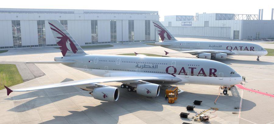 Qatar Airways A380 . Photo source: Qatar Airways