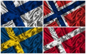 Flags of Nordic countries