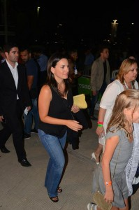 Greek Tourism Minister arriving at Lady Gaga's concert in Athens. Photo source: Proto Thema