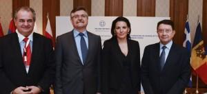 GNTO Secretary General panos Livadas, BSEC Secretary General Ambassador Dr. Victor Tvircun, Greek Tourism Minister Olga Kefalogianni and UNWTO Secretary General Taleb Rifai.