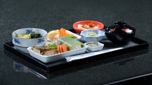 Emirates serves its First Class and Business Class menus on specially designed crockery on its three Japanese routes.