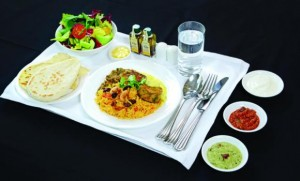 One of Emirates' specially designed regionally-inspired Indian menus