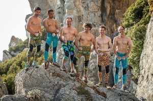 Climbing Legends at The North Face Kalymnos Climbing Festival 2014: Gerhard Hörhager, Yuji Hirayama, Jean-Baptiste Tribout, Patxi Arocena, Ben Moon and Boone Speed. Photo © Eddie Gianelloni, The North Face