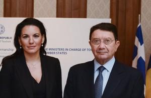UNWTO Secretary General Taleb Rifai during his recent visit to Athens, Greece, with Greek Tourism Minister Olga Kefalogianni.