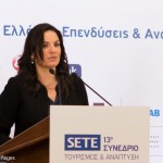 Greek Tourism Minister Olga Kefalogianni speaking at SETE's 13th Tourism & Development Conference in Athens.