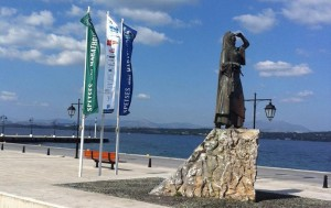 Statue of Bouboulina at the port of Spetses.