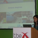 """Marissa Tejada, author, writer and journalist, was part of a panel about travel blogging in Greece, at TBEX Athens. She is a native New Yorker based in Athens, Greece and blogs for """"my Greece, my travels,"""" her travel photography blog."""