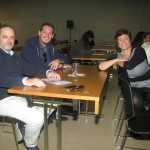 """Dimitris Serifis, CEO & founder at Nelios.com; Vassilis Polyzos, head of digital marketing at Nelios.com; and tourism professionals, Pigi Plessa, attended the TBEX Athens educational breakout session on the Destination Specialist Program """"This is Athens."""""""