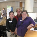 TBEX team: Songi Kim, conference manager; Susan Schwartz, show director; and Mary Jo Manzanares, conference director.