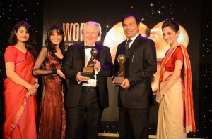 Seema Rahmani, host; Graham Cooke, president and founder of World Travel Awards; and Sandeep Bahl, regional general manager - Asia for Air New Zealand.