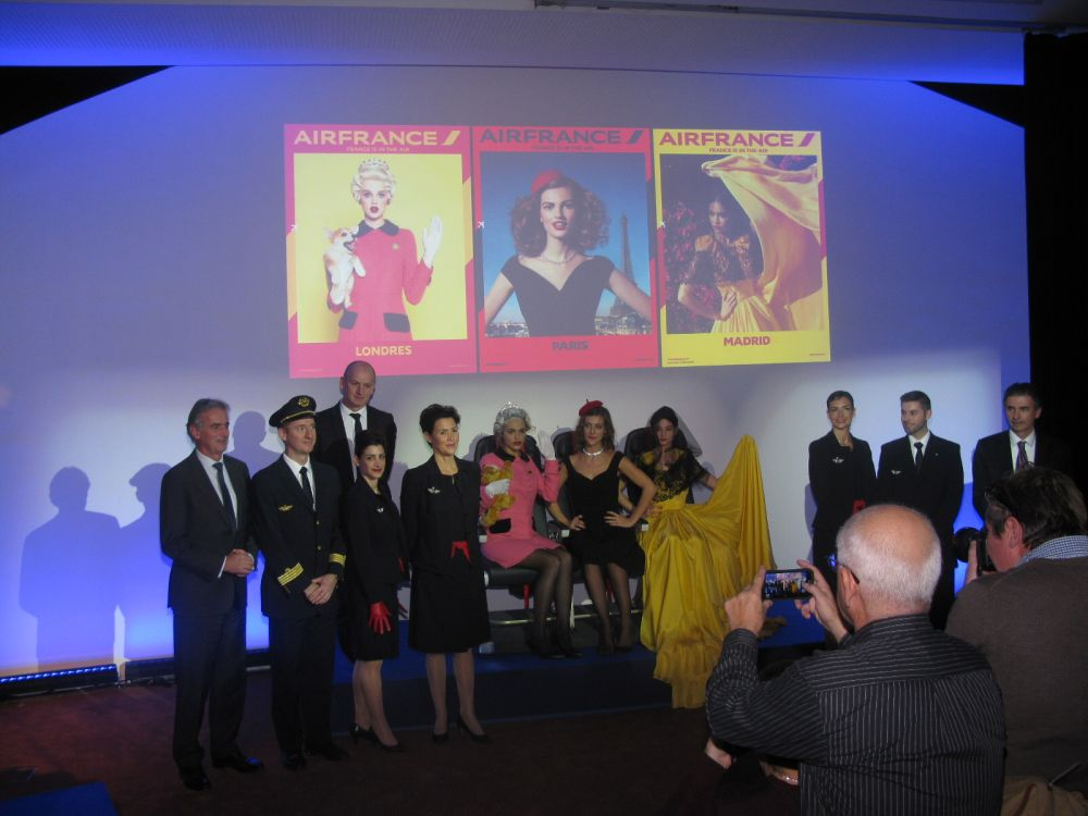 The unveiling of the new seats on board Air Frances' medium-haul fleet. Photo © GTP