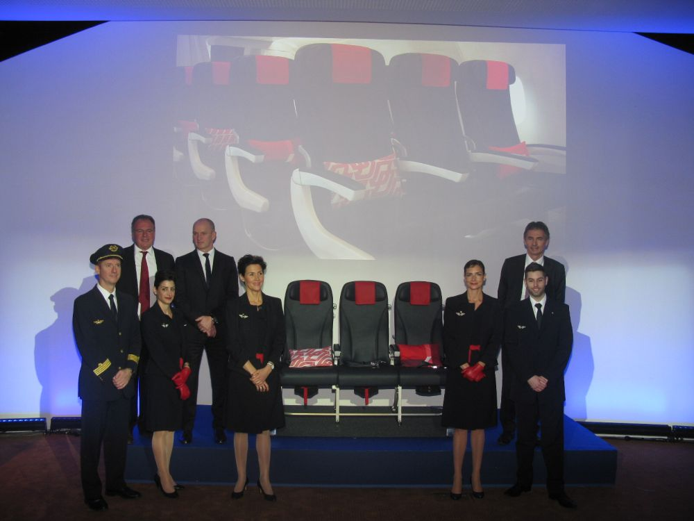 The completely redesigned seats on board the medium-haul fleet of Air France. Photo © GTP
