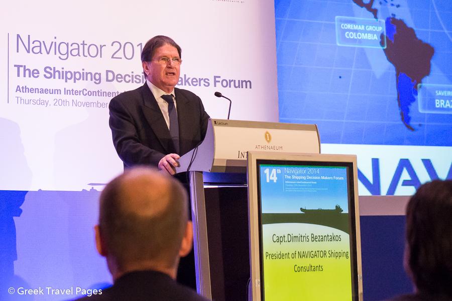 Captain Dinitris Bezantakos, President of NAVIGATOR Shipping Consultants.