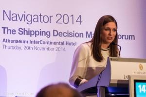 Danae Bezantakou, Managing Director of NAVIGATOR Shipping Consultants.