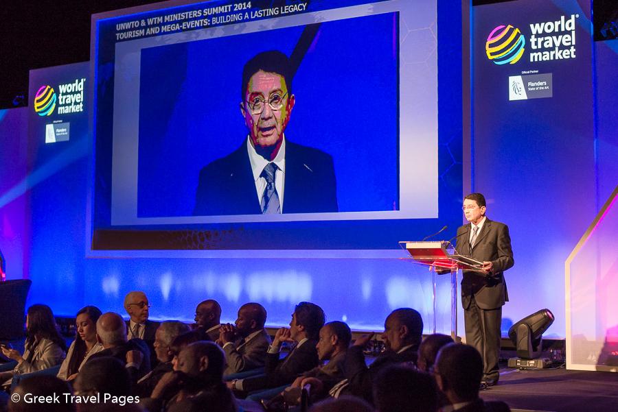 UNWTO Secretary General Taleb Rifai addressing the UNWTO & WTM Ministers' Summit.