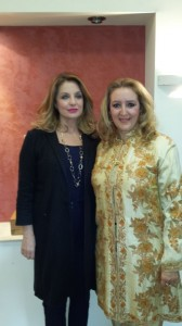 Deputy Culture and Sports minister, Angela Gerekou, and Mideast owner and managing director, Katerina Mousbeh.