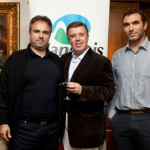 Andreas Manessis of Manessis Travel (center) with Pavlos Sotiriou and Athinodoros Kavounis of Famous Travel.