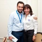 Vassilis Gorgolis of Manessis Travel with Ioanna Tzivanidou of IQ Holidays.