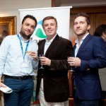 Vassilis Gorgolis and Andreas Manessis of Manessis Travel with Efthimios Dimitropoulos of Zorpidis Travel Services.