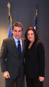 Greek Education Minister Andreas Loverdos and Tourism Minister Olga Kefalogianni. Photo source: Tourism Ministry