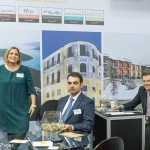 Domotel Hotels & Resorts - Anna Psomiadou, sales manager; Vassilis Vassilopoulos, sales manager; and Spyros Kouris, commercial director.