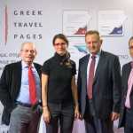 Greek Travel Pages (GTP) - Dinos Frantzeskakis, Discover the World; Maria Theofanopoulou, Danae Airlines; Antonis Zacharioudakis, Aerocandia Aviation Services; and Dimitris Mantousis, Cyprus Hellas Travel.