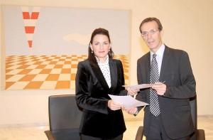 Greek Tourism Minister Olga Kefalogianni and TIF-Helexpo President Tasos Tzikas.
