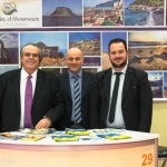 Monemvasia - Dimitris Pollalis, president of Laconia Hotel Association; George Dimitropoulos, Maniatis Hotel; and Dimitrios Lekakis, Municipality of Monemvasia.