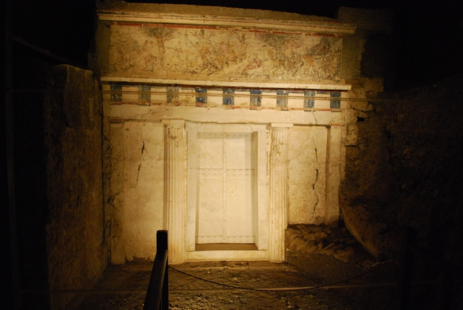 Royal necropolis of Vergina: The tomb of king Philip II. Photo © Wikimedia Commons