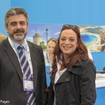 ACVB's press and media manager, George Aggelis, with Areti Lianaki of Global Media.