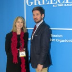 Frances Tuke and Panos Papadopulos of the Greek National Tourism Organisation UK & Ireland Office.