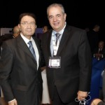 UNWTO Secretary General Taleb Rifai and Greek National Tourism Organization General Secretary Panos Livadas at the UNWTO & WTM Ministers' Summit on second day of WTM 2014.