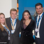 Manessis Travel President & CEO Andreas Manessis (second left) with Greek Tourism Minister Olga Kefalogianni during her visit to the company's stand.