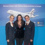 Greek Tourism Olga Kefalogianni at the stand of Aegean Airlines.