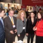 Region of Peloponnese vice governor for development works, Konstantina Nikolakou (far right) discussing with Greek Tourism Minister Olga Kefalogianni.