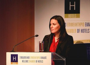 Greek Tourism Minister Olga Kefalogianni. Photo source: Hellenic Chamber of Hotels