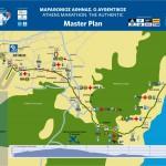 Athens Marathon 2014 Map plan