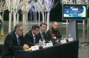 Presentation of Christomas events by TIF-Helexpo president Tasos Tzikas.